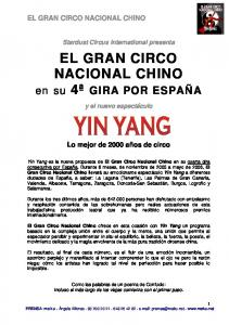 EL GRAN CIRCO NACIONAL CHINO