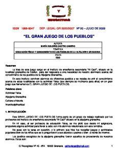 EL GRAN JUEGO DE LOS PUEBLOS