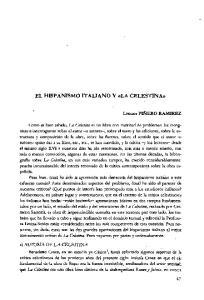 EL HISPANISMO ITALIANO Y «LA CELESTINA»