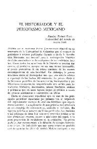 EL HISTORIADOR Y EL PERIODISMO MEXICANO