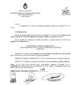 EL HONORABLE CONSEJO SUPERIOR DE LA UNIVERSIDAD NACIONAL DE LA PATAGONIA SAN JUAN BOSCO ORDEN A: