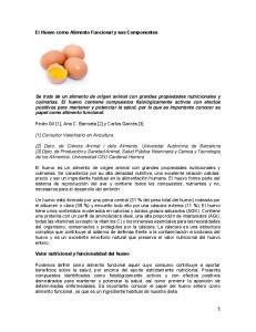 El Huevo como Alimento Funcional y sus Componentes