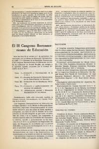 El III Congreso Iberoamericano