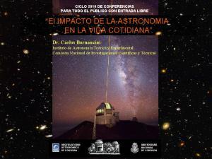 El IMPACTO DE LA ASTRONOMIA EN LA VIDA COTIDIANA