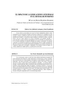 EL IMPACTO DE LAS JUBILACIONES ANTICIPADAS EN EL SISTEMA DE PENSIONES