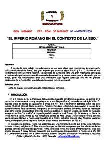 EL IMPERIO ROMANO EN EL CONTEXTO DE LA ESO