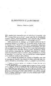 EL INDIVIDUO Y LA SOCIEDAD