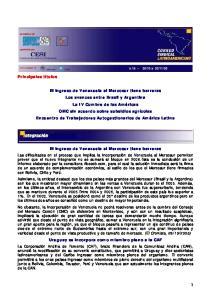El ingreso de Venezuela al Mercosur tiene barreras