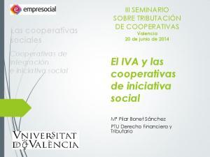 El IVA y las cooperativas de iniciativa social