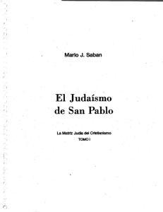 El Judaismo de San Pablo