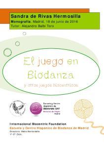 El juego en Biodanza
