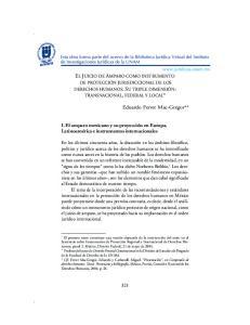 EL JUICIO DE AMPARO COMO INSTRUMENTO