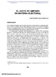 EL JUICIO DE AMPARO EN MATERIA ELECTORAL