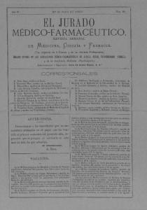 EL JURADO MÉDICO-FARMACÉUTICO