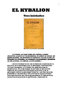 EL KYBALION. Tres iniciados