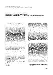 EL LABERINTO DE LA POSTMODERNIDAD: UNA MIRADA TRANSVERSAL A LA VIDA EN EL CAPITALISMO DE FICCIÓN