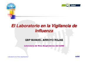 El Laboratorio en la Vigilancia de Influenza