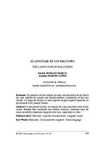 EL LENGUAJE DE LOS BALCONES THE LANGUAGE OF BALCONIES