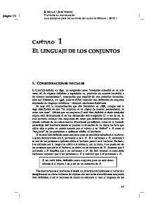 EL LENGUAJE DE LOS CONJUNTOS