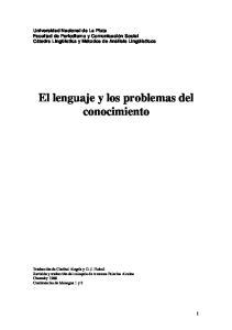 El lenguaje y los problemas del conocimiento