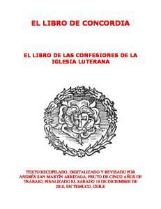 EL LIBRO DE CONCORDIA