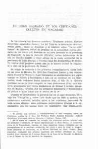 EL LIBRO SAGRADO DE LOS CRISTIANOS OCULTOS EN NAGASAKI