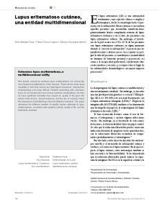 El lupus eritematoso (LE) es una enfermedad