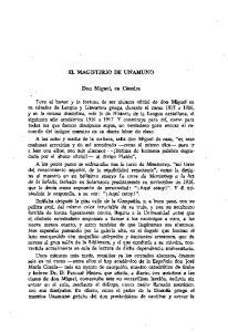 EL MAGISTERIO DE UNAMUNO