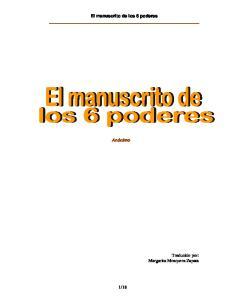 El manuscrito de los 6 poderes