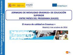 El marco de calidad en Erasmus +