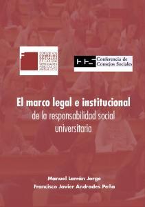 El marco legal e institucional