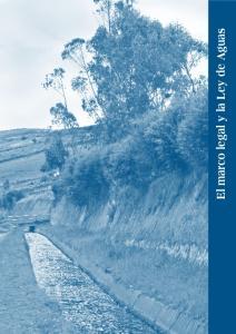 El marco legal y la Ley de Aguas