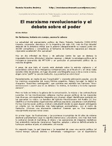 El marxismo revolucionario y el debate sobre el poder