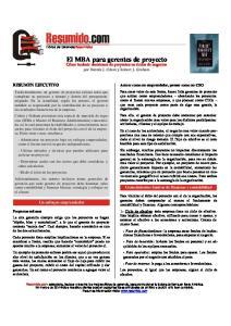 El MBA para gerentes de proyecto