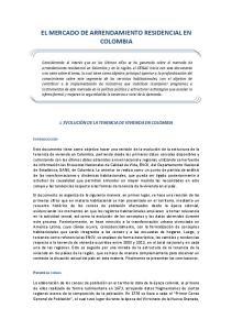 EL MERCADO DE ARRENDAMIENTO RESIDENCIAL EN COLOMBIA