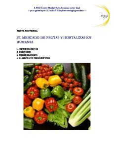EL MERCADO DE FRUTAS Y HORTALIZAS EN RUMANIA