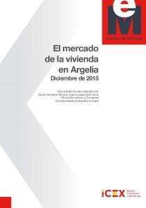 El mercado de la vivienda en Argelia Diciembre de 2015