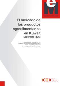 El mercado de los productos agroalimentarios en Kuwait Diciembre 2013