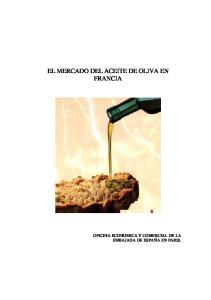 EL MERCADO DEL ACEITE DE OLIVA EN FRANCIA