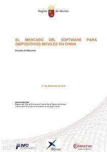 EL MERCADO DEL SOFTWARE PARA DISPOSITIVOS MOVILES EN CHINA