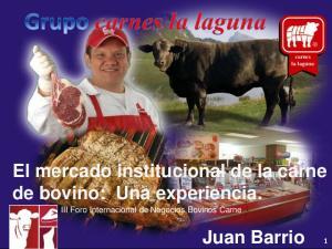 El mercado institucional de la carne de bovino: Una experiencia