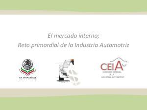 El mercado interno; Reto primordial de la Industria Automotriz