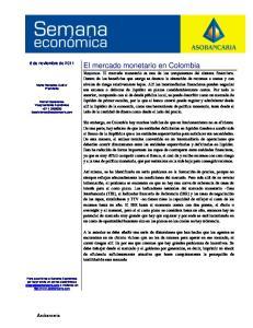 El mercado monetario en Colombia