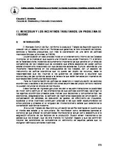 EL MERCOSUR Y LOS INCENTIVOS TRIBUTARIOS. UN PROBLEMA DE EQUIDAD