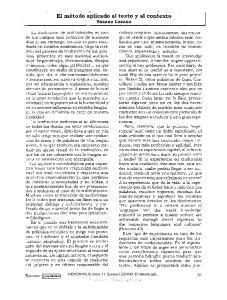 El método aplicado al texto y al contexto