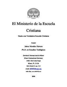El Ministerio de la Escuela Cristiana