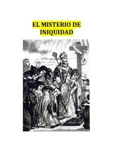 EL MISTERIO DE INIQUIDAD