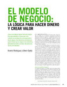 EL MODELO DE NEGOCIO: