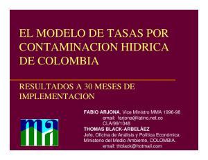 EL MODELO DE TASAS POR CONTAMINACION HIDRICA DE COLOMBIA