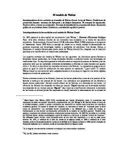 El modelo de Walras. Interdependencia de las variables en el modelo de Walras-Cassel